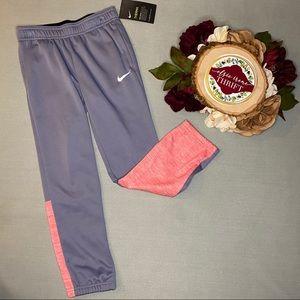 🌻 Girls Nike Sweat Pants Grey and Pink